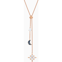Swarovski Symbolic Y Necklace, Multi-coloured, Rose-gold tone plated - Necklace Gifts