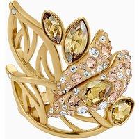 Swarovski Graceful Bloom Cocktail Ring, braun, Vergoldet
