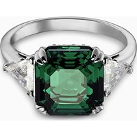 Attract Cocktail Ring, Green, Rhodium plated - Cocktail Gifts