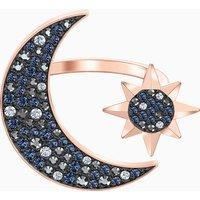 Swarovski Symbolic Moon Ring, Multi-coloured, Rose-gold tone plated