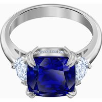 Attract Cocktail Ring, Blue, Rhodium plated - Cocktail Gifts
