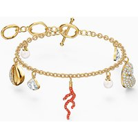 Shell Coral Bracelet, Red, Gold-tone plated - Coral Gifts