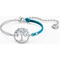 Swarovski Symbolic Tree of Life Bracelet, Blue, Rhodium plated - Life Gifts
