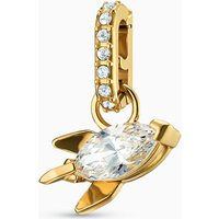 Out of this World Rocket Charm, White, Gold-tone plated - Charm Gifts
