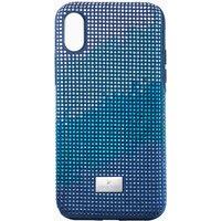 Swarovski Crystalgram Smartphone Schutzhülle mit Stoßschutz, iPhone® X/XS, blau