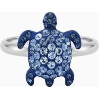 Mustique Sea Life Turtle Ring, Small, Blue, Palladium plated - Life Gifts