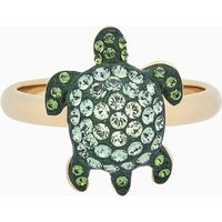 Mustique Sea Life Turtle Ring, Small, Green, Gold-tone plated - Life Gifts