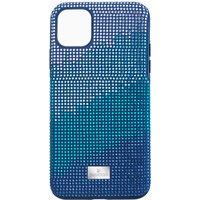 Swarovski Crystalgram Smartphone Schutzhülle mit Stoßschutz, iPhone® 11 Pro Max, blau