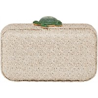 Mustique Sea Life Turtle Bag, Beige, Gold-tone plated