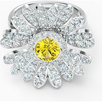 Eternal Flower Ring, Yellow, Mixed metal finish - Swarovski Crystal Gifts