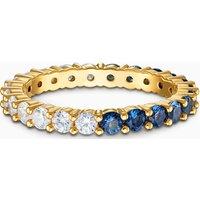 Swarovski Vittore Half XL Ring, blau, vergoldet