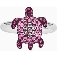 Mustique Sea Life Turtle Ring, Small, Pink, Palladium plated - Life Gifts