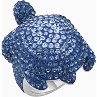 Mustique Sea Life Turtle Ring, Large, Blue, Palladium plated - Life Gifts