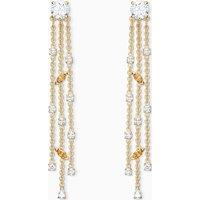 Botanical Tassel Pierced Earrings, White, Gold-tone plated