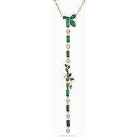 Beautiful Earth by Susan Rockefeller Y Necklace, Panda, Green, Gold-tone plated - Beautiful Gifts