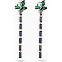 Beautiful Earth by Susan Rockefeller Pierced Earrings, Dark multi-coloured, Gold-tone plated - Beautiful Gifts