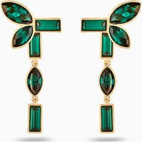 Beautiful Earth by Susan Rockefeller Pierced Earring Jackets, Green, Gold-tone plated - Jackets Gifts