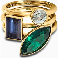 Beautiful Earth by Susan Rockefeller Ring Set, Dark multi-coloured, Gold-tone plated - Beautiful Gifts