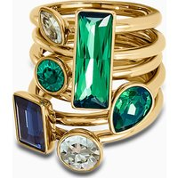 Beautiful Earth by Susan Rockefeller Ring Set (6), Dark multi-coloured, Gold-tone plated - Beautiful Gifts