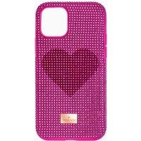 Swarovski Crystalgram Heart Smartphone Schutzhülle mit Stoßschutz, iPhone® 11 Pro, rosa