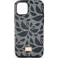 Swarovski Swanflower Smartphone Schutzhülle mit Stoßschutz, iPhone® 11 Pro Max, schwarz