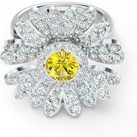 Eternal Flower Ring, Yellow, Mixed metal finish - Swarovski Crystal Gifts