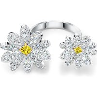 Eternal Flower Open Ring, Yellow, Mixed metal finish - Swarovski Crystal Gifts