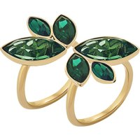 Beautiful Earth by Susan Rockefeller Ring Set, Green, Gold-tone plated
