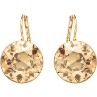 Bella Pierced Earrings, Gold tone, Gold-tone plated - Swarovski Gifts