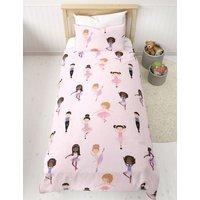 M&S Pure Cotton Ballet Dancer Bedding Set - DBL - Pink Mix, Pink Mix
