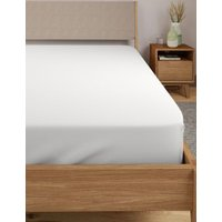 M&S Comfortably Cool Deep Fitted Sheet - SGL - White, White,Powder Blue,Cream,Taupe,Soft Pink,Light