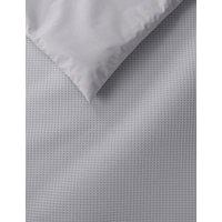 M&S Pure Cotton Waffle Bedding Set - 6FT - Grey, Grey