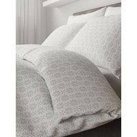 M&S Elena Geometric Bedding Set - SGL - Grey, Grey,Duck Egg