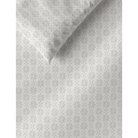 M&S Elena Geometric Bedding Set - DBL - Grey, Grey,Duck Egg