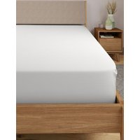 MandS Autograph Supimaandreg; Cotton 750 Thread Count Extra Deep Fitted Sheet - 6FT - White, White,Light Grey