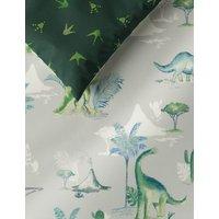 M&S Cotton Rich Dinosaur Bedding Set - DBL - Green Mix, Green Mix