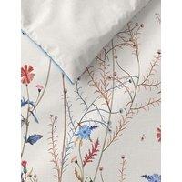 M&S Pure Cotton Wild Floral Bedding Set - 6FT - White Mix, White Mix