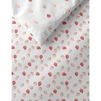 M&S Pure Cotton Strawberry Bedding Set - 6FT - Pink Mix, Pink Mix