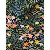 M&S Pure Cotton Floral Bedding Set - SGL - Black Mix, Black Mix