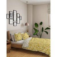 M&S Cotton Mix Floral Bedding Set - SGL - Ochre, Ochre