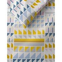 M&S Cotton Rich Geometric Bedding Set - DBL - Ochre, Ochre