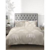 M&S Cotton Rich Tree Jacquard Bedding Set - DBL - Neutral, Neutral