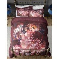 M&S Pure Cotton Floral Bedding Set - DBL - Raspberry Mix, Raspberry Mix