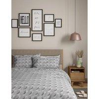 M&S 2 Pack Cotton Mix Geometric Bedding Sets - DBL - Ochre, Ochre