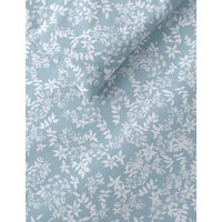 M&S 2 Pack Cotton Mix Floral Bedding Sets - 5FT - Duck Egg, Duck Egg