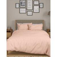 M&S Body Sensortm Pure Cotton Duvet Cover - DBL - Light Pink, Light Pink,Medium Blue,Medium Beige,Wh