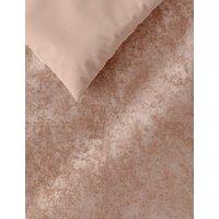 M&S Velvet Bedding Set - SGL - Pink, Pink,Charcoal,Mink