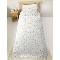 M&S Pure Cotton Peter Rabbittm Bedding Set - TODDL - Soft Blue, Soft Blue