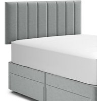 M&S Panelled Headboard - 4FT6 - Silver, Silver,Charcoal,Oatmeal,Grey