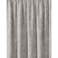 MandS Metallic Jacquard Pencil Pleat Curtains - WDR72 - Silver Grey, Silver Grey